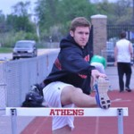 A LEG UP: TRoy Athens senior Evan Carpenter is one of the area's top perfromers in the 100-meter high hurdles and has a chance of qualifying for the state finals in three events this season. Staff Photo | Dan Stickradt.