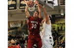 POWER TPOWER: Rochester College senior center Ricky Doran and the Warriors advanced to the USCAA national championship game Friday with a 62-57 victory over Ave Marie. Photo | Larry McKee, www.lmckeephotography.com