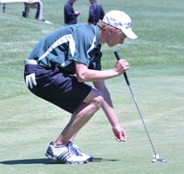CLEANED UP THE GREEN: Lake Orion's Alex Waelchli did a fine job of course management in 2012, enough to post one of the area's top averages and earn All-State Honorable Mention and All-Area First Team honors. File Photo | Dan Stickradt
