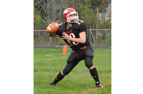 AIRING IT OUT: Rochester Hills Lutheran Northwest senior quarterback Nathan Drews hopes to lead  to the Crusaders to the MIAC league title and postseason berth this season. File Photo |  Dan Stickradt