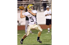 OUTBURST: Rochester Stoney Creek junior Sean Scullen scored five touchdowns Friday as the cougars routed Royal Oak, 55-7, to snap an eight-game losing streak. Courtesy Photo | Stoney Creek Football.