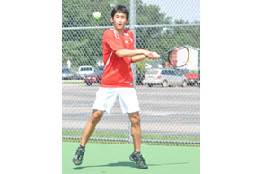 RETURN TO SENDER: Troy Athens junior No. 1 singles player Richard Zhang should be one of the state&#039;s better players this season.  File Photo | Dan Stickradt