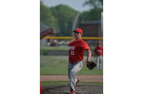 TITLE CLINCHER:Holly's Chris Green was the pitcher of record in the Bronchos league title clinching win over Swartz Creek. Courtesy Photo | Holly High School
