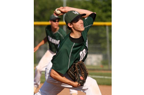 BRINGING SOME HEAT: LAke Orion senior Nick Deegwas selected to the MHSBCA All-State Dream Team. file Photo | Larry McKee, lmckeephotography.com, lmckeephotography@comcast.net.
