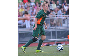 BACK ON TOP:McihiganBucks forward Tom Catalano and his teammates moved to the top of their division Wednesday with a 1-0 victory over the Toronto Lynx. Courtesy Photo | Michigan Bucks