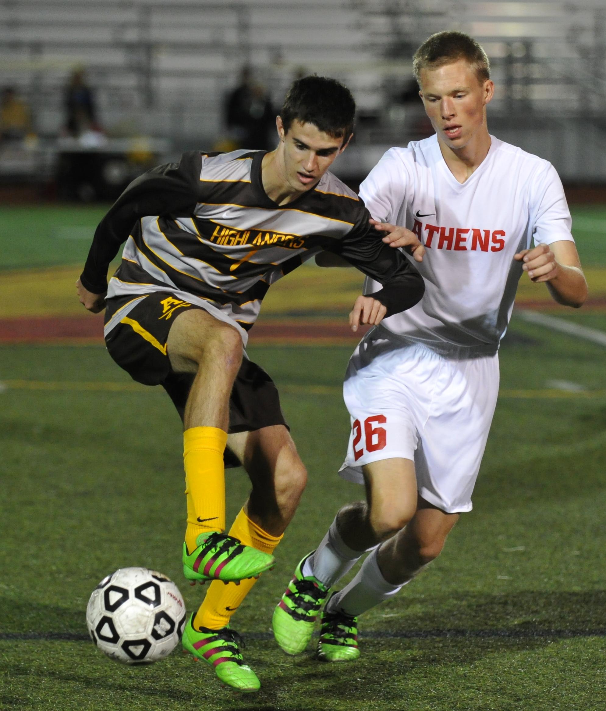 11OC16 Rochester Adams @ Troy Athens boys varsity soccer