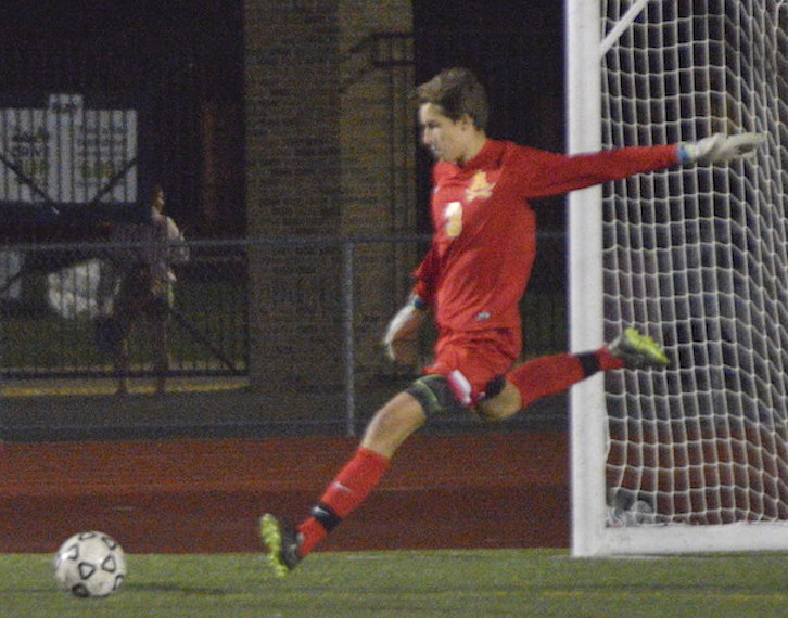 RISING TO THE OCCASION: Rochester Adams senior goalkeeper Dylan Brown has been nothing short of exceptional during his prep career with the Highlanders, setting multiple school records.